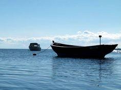 Start unserer Malreise auf der Insel Rügen   Boote im Bodden vor Middelhagen (c) FRank Koebsch (3)