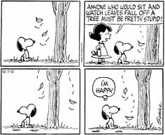 Aw, Snoopy, being all INFP like :) I'm like this with rain and snow.In good company!