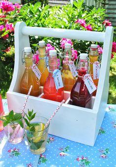 mamas kram: Erfrischender Sommersirup + Flaschenträger
