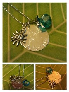 Your are my Sunshine handstamped necklace by AdelaidsCreations, $12.00