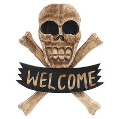 Wholesale Welcome skull plaque - Something Different
