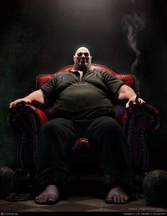 Fat Man, created by Ji Ye using Maya, Mental Ray, Photoshop and ZBrush.