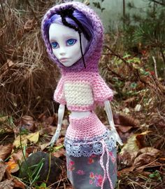 MH and Pure Neemo hood SWEATER and SKIRT set by ZomiDollClothes
