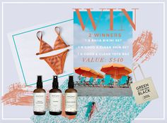 GIVEAWAY! Win any @baiia_label eco reversible bikini set + a Good & Clean all natural and vegan Skincare Set and a reusable tote bag to carry all your lush gear in. Value of both prizes: $540! Enter now! #plasticfreejuly #ecobikini #ethicalbikini #sustainablebikini #ecofashion #vegan #natural #creultyfree #veganskin