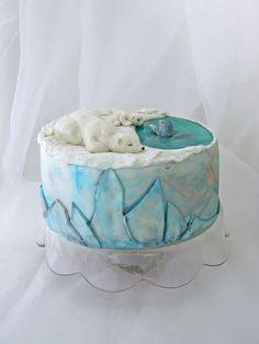 Penguin Cakes, Bear Cakes, Christmas Cake Designs, 40th Cake, Diy Cake Topper, Animal Cakes, Cake Cookies, Cupcakes, Love Cake