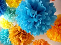 Cute little poms from Pomshop on Etsy. Great quirky wedding decor! #talkingtables #pompoms