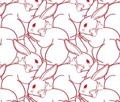 Fabric – Shop for Fabric By Independent Designers – Spoonflower  Billions of Bunnies