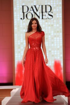 The Modern Princess ♕ :: Red Princess Dress Modeled by Miranda Kerr - David Jones Haute Couture Spring/Summer 2012-2013
