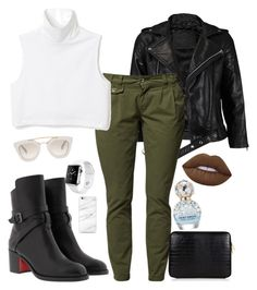 """Slight Chill"" by springleaves on Polyvore featuring VIPARO, Christian Louboutin, Apple, Lime Crime, Marc Jacobs and Prada"