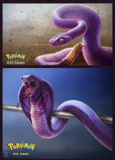 023-024 Ekans and Arbok by DanteCyberMan.deviantart.com on @deviantART