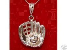0300 Baseball Catchers glove Pendant Charm Jewelry