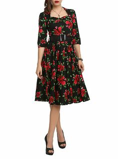 Hell Bunny 50's Eternity Floral Dress on Wanelo