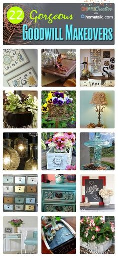 22 Gorgeous Goodwill Makeover Projects. Follow todays biggest trends with these repurposed or upcycled trash to treasure finds.