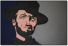 """An original painting... """"Unforgiven"""" is a contemporary piece inspired by the legendary Actor, Director, Writer and Composer... Clint Eastwood."""