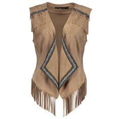 Fringe brown vest boho style - 800 CZK, 30 EUR