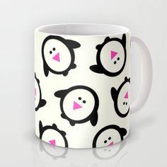 Nathalie Robbins Society6 Happy Feet Holiday Collection Penguins Mug by Nathalie Robbins - $15.00