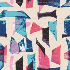 Geo Shapes #textiledesign #fashion #patternbank #omlabel patternbank.com/omlabel