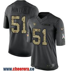 Men's Arizona Cardinals #51 Kevin Minter Black Anthracite 2016 Salute To Service Stitched NFL Nike Limited Jersey