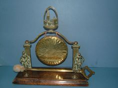Edwardian Brass Free Standing Dinner Gong from by BiminiCricket, $110.00