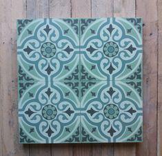 Zementfliesen mit diversen Grüntöne Cement Tiles, Bespoke, Design, Home Decor, Patterns, Colors, Taylormade, Decoration Home, Room Decor