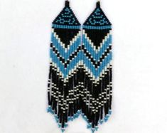 Beaded Native American Earrings Inspired. by RubatiJewelry
