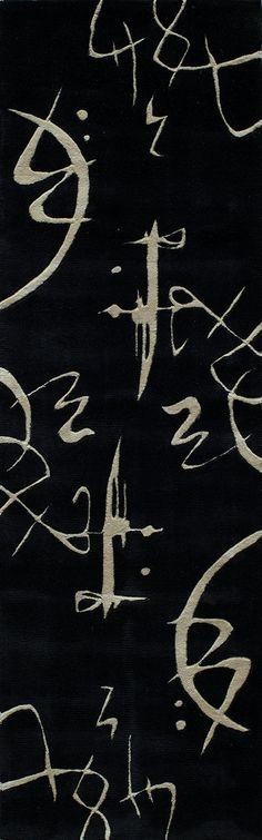 Olivia Hand-Tufted Black Area Rug
