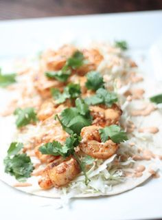 Blackened Shrimp Tacos.