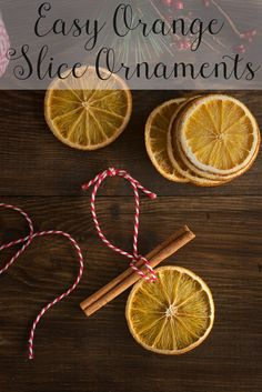 Simple Orange Slice Ornaments Tutorial - Christmas Crafts for Adults & Kids Christmas Craft Ideas Christmas Crafts For Adults, Easy Christmas Decorations, Diy Christmas Ornaments, Holiday Crafts, Kitchen Ornaments, Orange Decorations, Ornaments Ideas, Snowman Decorations, Spring Crafts