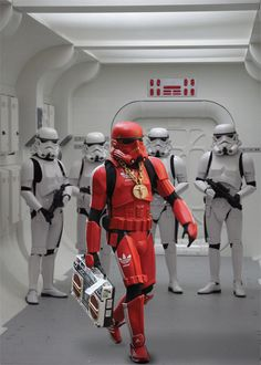 Odd one out - a red Stormtrooper