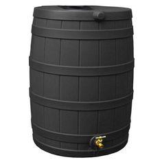 Rain Wizard 40-Gallon Black Recycled Plastic Rain Barrel With Spigot R