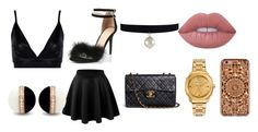 """""""Untitled #60"""" by shiyafrazierx on Polyvore featuring Boohoo, LE3NO, Chanel, Lime Crime and Felony Case"""