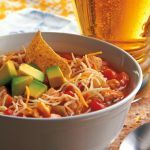 I LOVE Chicken Tortilla Soup. It is my favorite soup ever and I just had to come up with my own recipe for it! I loved the idea of not cooking the chicken before adding it to the slow cooker, so that was a must when coming up with this recipe. Top it with some yummy cheese, chips and some avocado and you will see why it is now a staple in my home! Mmmm mmmm good. This soup is a definite crowd pleaser and one of our favorites. It has a little bit of everything and a whole lotta flavor.   Used…