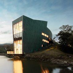 sanaksenaho architects constructs copper-clad CIPEA villa in nanjing - designboom | architecture