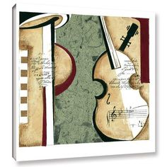 """Mercury Row Musical Moment III Framed Painting Print on Wrapped Canvas Size: 14"""" H x 14"""" W x 2"""" D"""