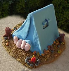 Hot camping miniature scene - custom wedding cake topper - Fall version | por PassionArte