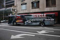 Motorcycle Dealership Full Bus Wrap Cincinnati, Ohio