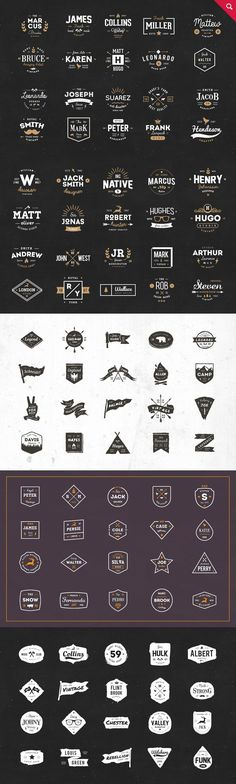 330 Logos Bundle - 88% off by vuuuds on @creativemarket #logo #brand #branding #design #creative #inspiration #ideas