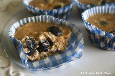 24/7 Low Carb Diner: No Bake Blueberry Muffin Bites. Sugarfree, glutenfree, paleo. Cool and sweet treat for hot summer days.