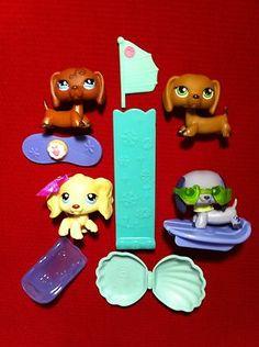 Littlest Pet Shop 91 Cocker Spaniel Dachshund 640 139 1367 Puppy Dog Brown LPS | eBay