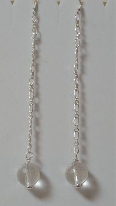 Clear quartz disco ball shoulder duster evening wear earrings, party wear, evening wear by Gemhance on Etsy