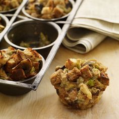 Portion-controlled stuffing muffins just in time for Thanksgiving...yum!