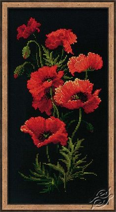 Poppy Bush - Cross Stitch Kits by RIOLIS - 1057