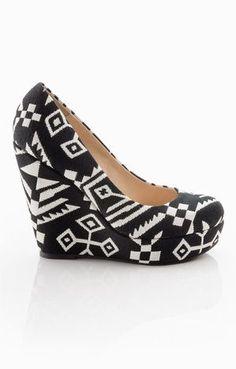 Aztec Wedge Heels ☆