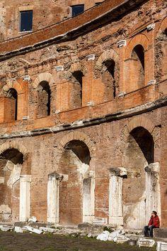"""""""Markets"""" of Trajan. Rome."""