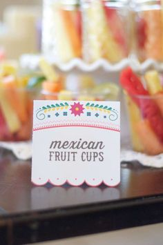 Party food at a fiesta bridal shower party! See more party planning ideas at CatchMyParty.com!