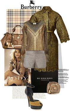 """""""Burberry SS13 Reveal"""" by akchen ❤ liked on Polyvore"""