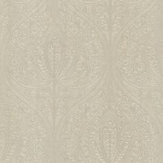 "Onyx Paolina 33' x 20.5"" Damask 3D Embossed Wallpaper"
