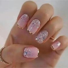 Glamour Nails, Classy Nails, Fancy Nails, Stylish Nails, Fabulous Nails, Gorgeous Nails, Milky Nails, Best Acrylic Nails, Pretty Nail Art