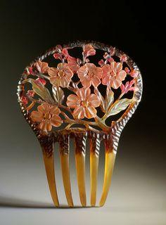 Apple Blossoms comb | French Art Nouveau via The Creative Museum
