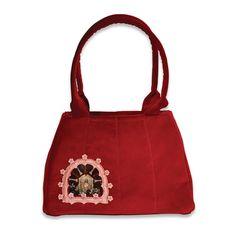 Retro Handbag Red & Bonny small based on the by VitaOcculta Weird Fashion, New Fashion, The Secret World, Handmade Handbags, You Bag, Timeless Design, Fashion Brand, Crossbody Bags, Reusable Tote Bags